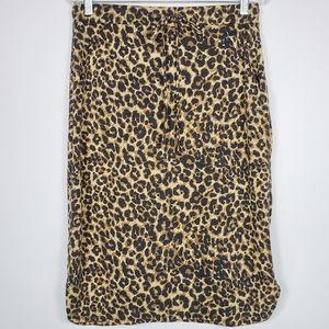 First Love animal print pencil skirt sz: L